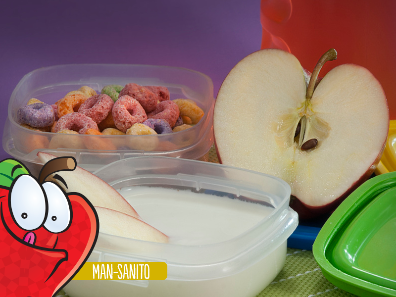 Yogurt natural con manzana