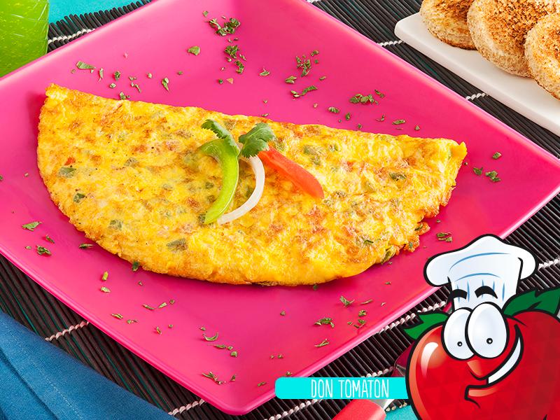 Omelet con pico de gallo