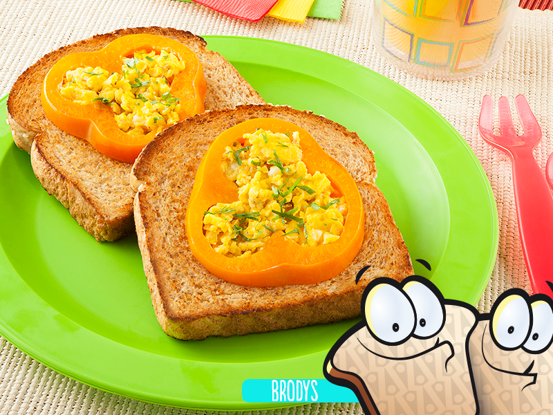 Pan relleno de huevo
