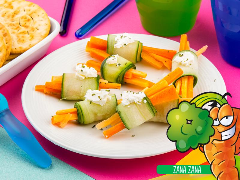 Rollitos de zanahoria