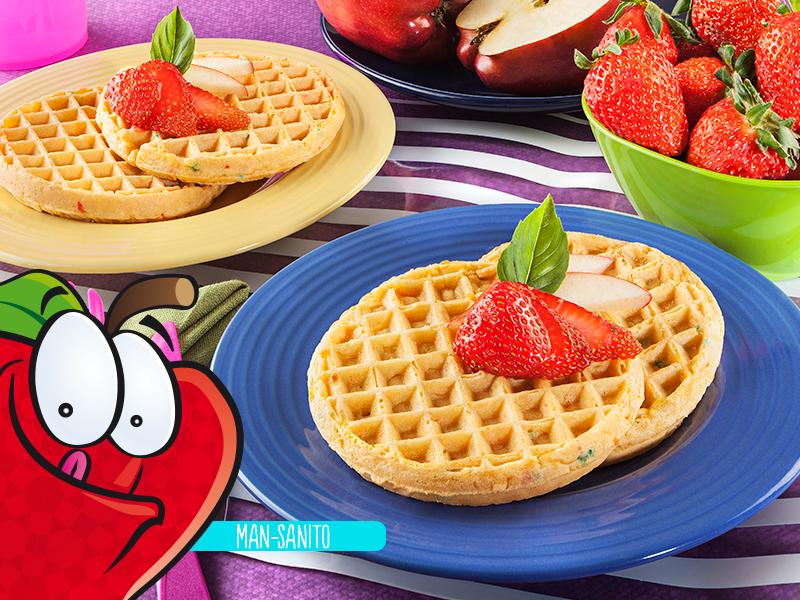 Waffle con frutas