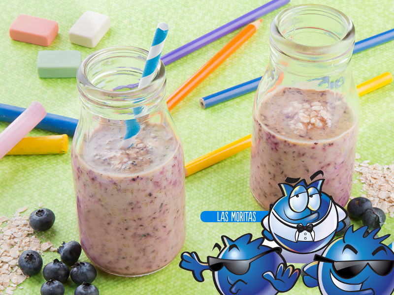 Yogosmoothie de blueberry y avena
