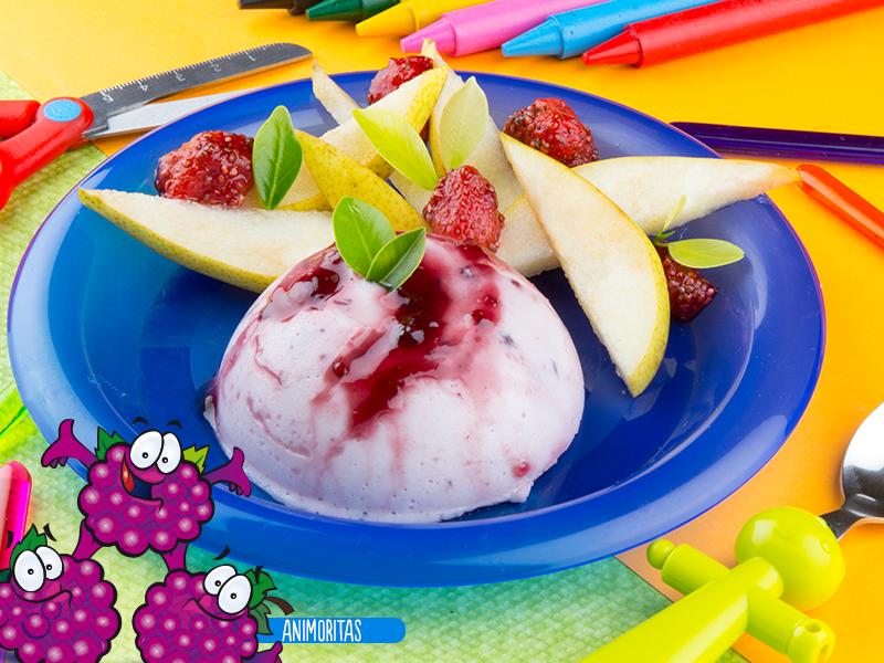 Gelatina de yogurt y zarzamora