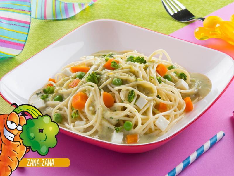 Espagueti en salsa de brócoli