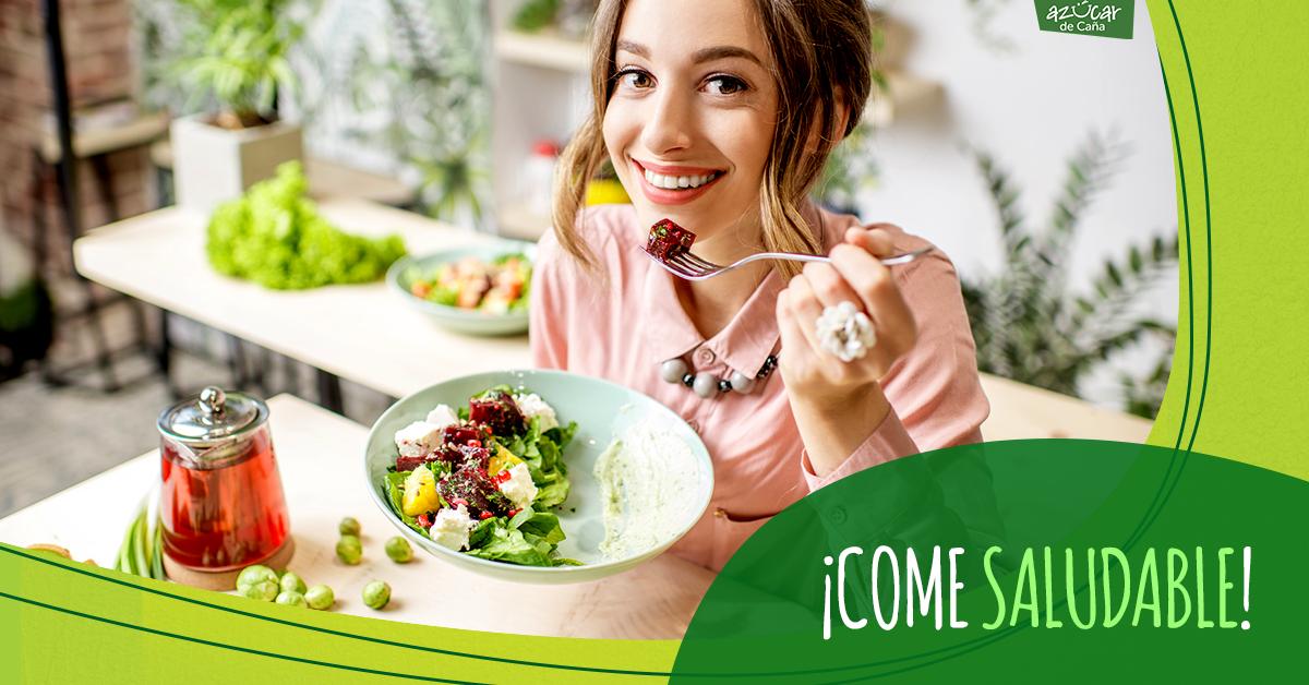 que significa comer de forma saludable