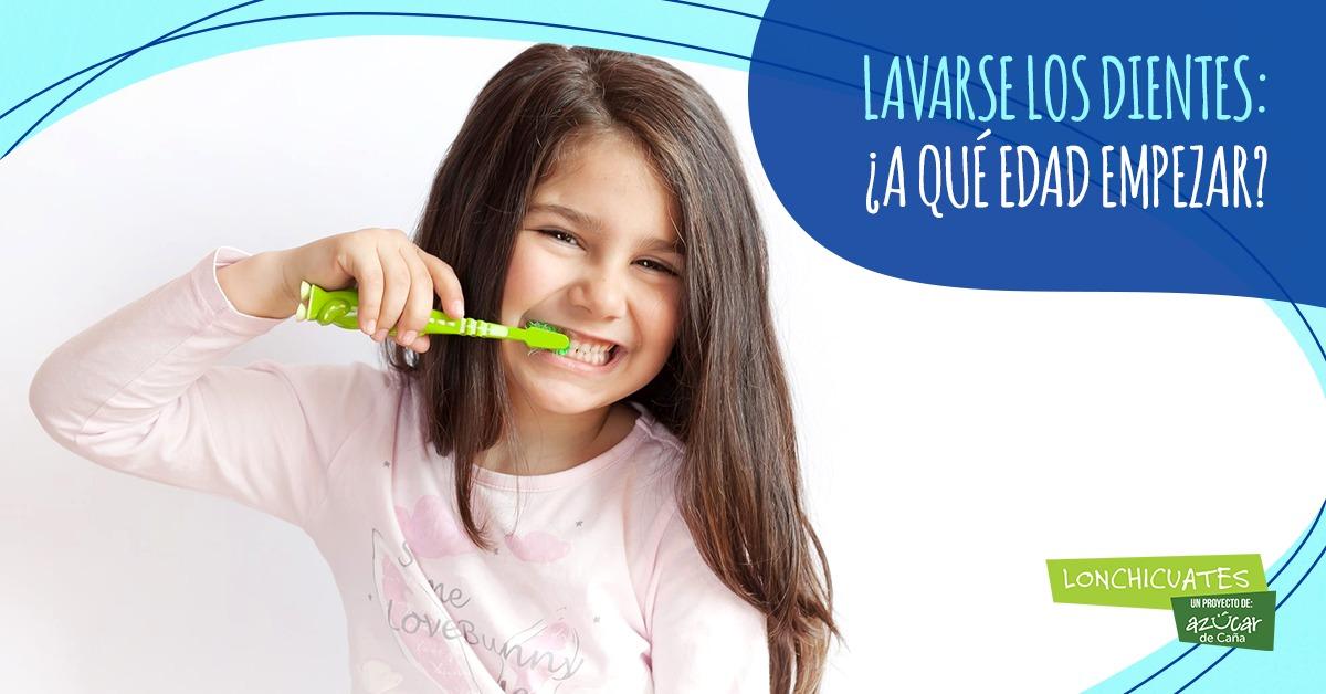 ¿A qué edad empezar a lavarse los dientes?
